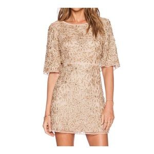 ALICE + OLIVIA Blush Embellished Mini Drina Dress